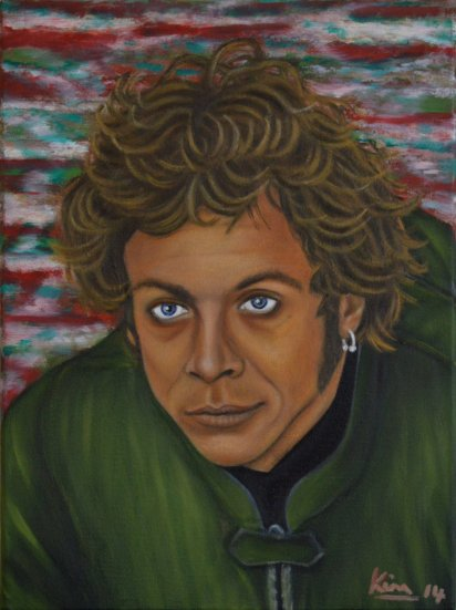 Oil Painting > Balance of Power > Valentino Rossi