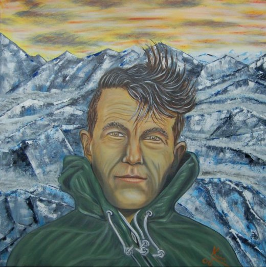 Oil Painting > Bee Keeper ( Edmund Hillary )
