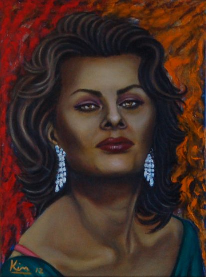 Oil Painting > Bella Donna > Sophia Loren