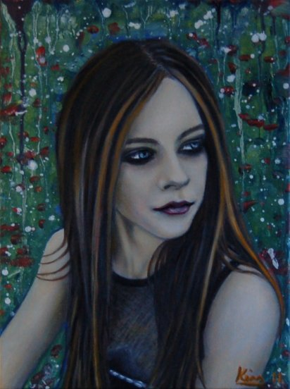 Oil Painting > Black Dog ( Avril Lavigne )