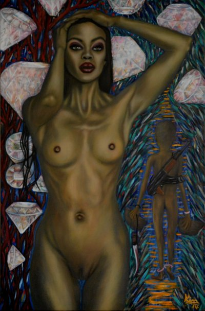 Oil Painting > Blood Diamonds > Naomi Campbell - Click Image to Close