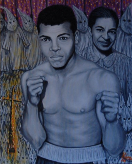 Oil Painting > Bus Stop ( Muhammad Ali / Rosa Parks )