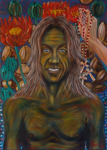Oil Painting > Club Johnson ( Iggy Pop )