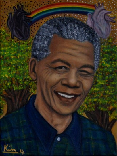 Oil Painting > Colour Crime > Nelson Mandela
