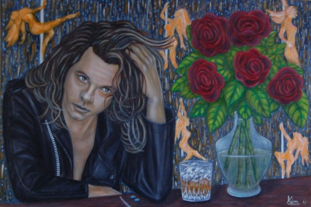 Oil Painting > Dark Room > Michael Hutchence