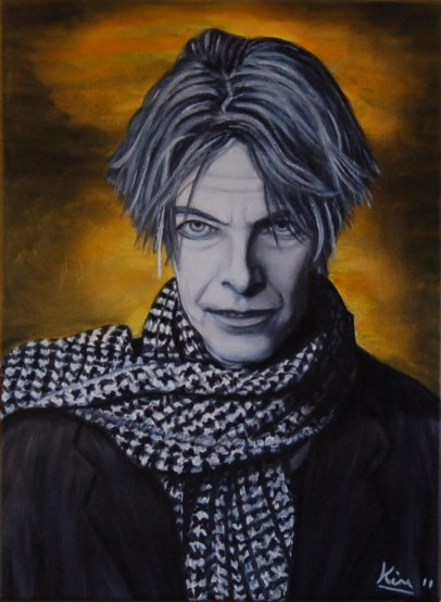 Oil Paintings :: Portrait :: Oil Painting > Enigma ( David Bowie