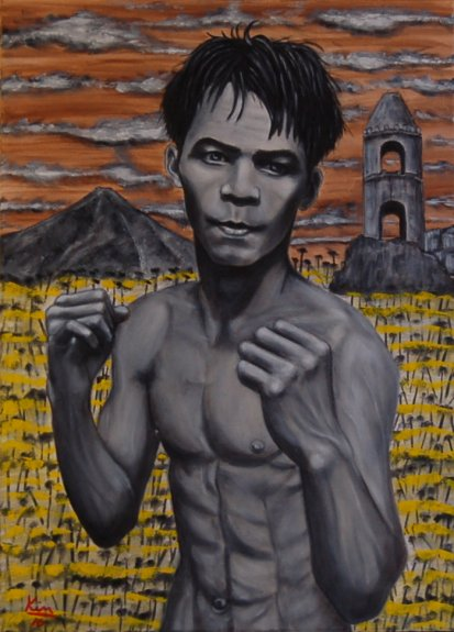 Oil Painting > Fight Man ( Manny Pacquiao )