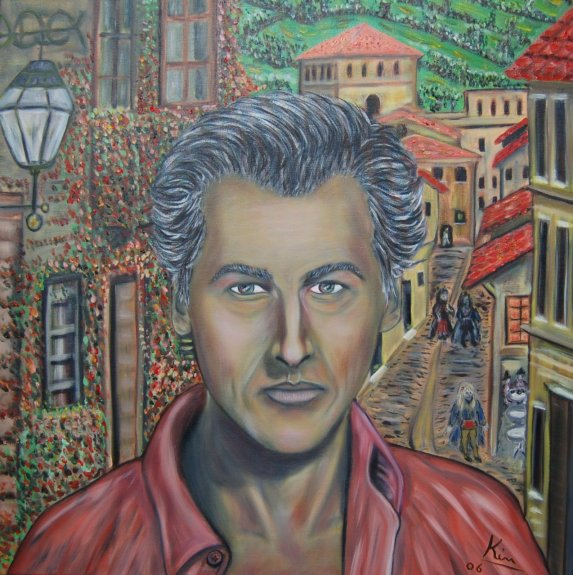 Oil Painting > Flamboyant ( Stewart Granger ) - Click Image to Close