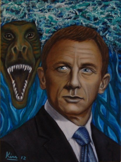 Oil Painting > Foreign Affairs ( Daniel Craig )