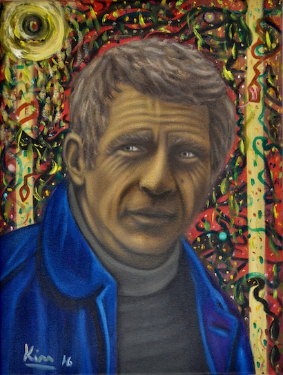 Oil Painting > Free Bird > Steve McQueen