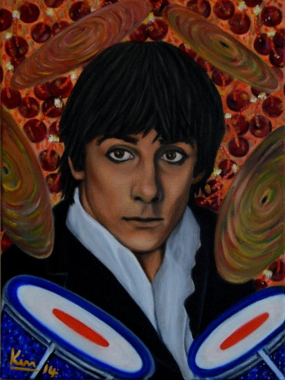 Oil Painting > Full Moon > Keith Moon