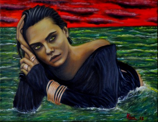 Oil Painting > Glad Eye Boogie > Cara Delevingne