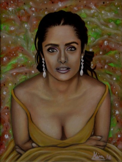 Oil Painting > Golden Age > Salma Hayek