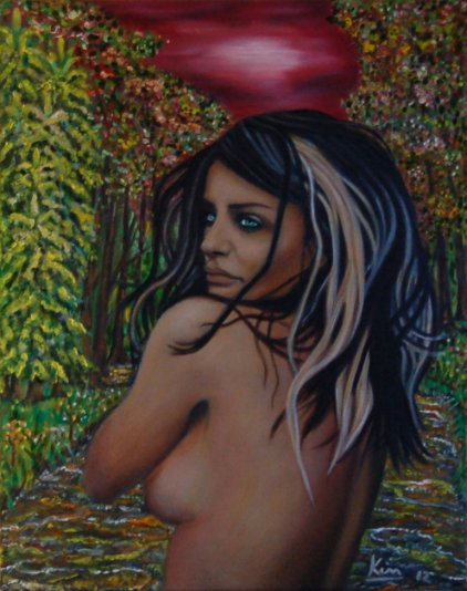 Oil Painting > Indian Summer ( Helena Christensen )