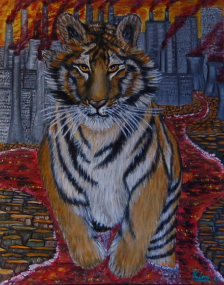 Oil Painting > Legacy of Greed ( Amur Tiger )