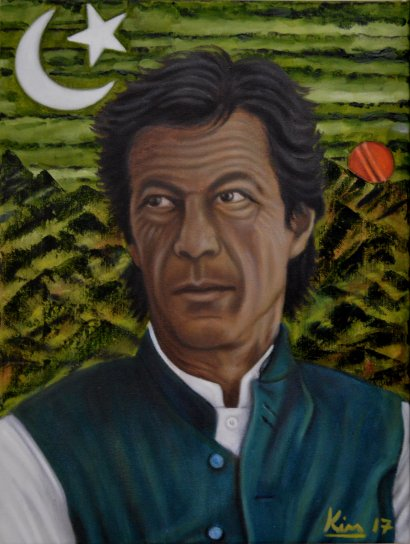 Oil Painting > Light of Lahore > Imran Khan