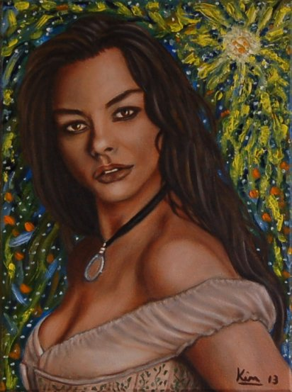 Oil Painting > Lust for Life > Catherine Zeta Jones - Click Image to Close