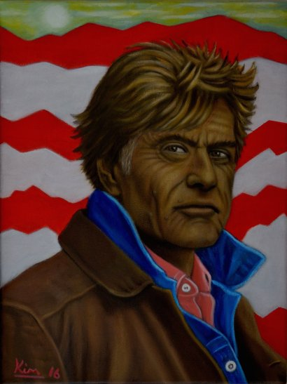 Oil Painting > Mountain Pass > Robert Redford
