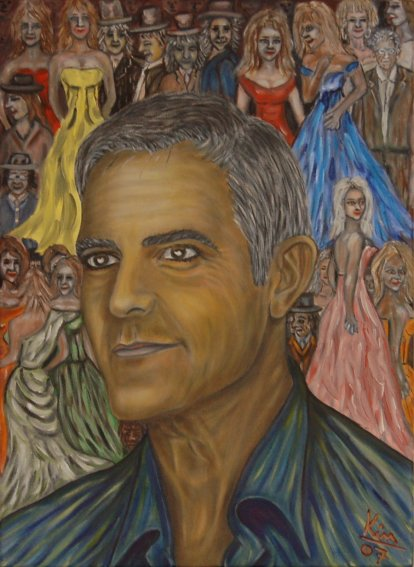 Oil Painting > Mr Peter ( George Clooney ) - Click Image to Close