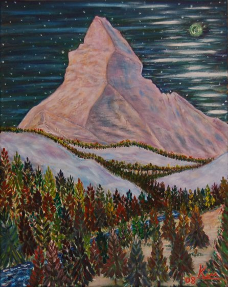 Oil Painting > Mystical Mountain