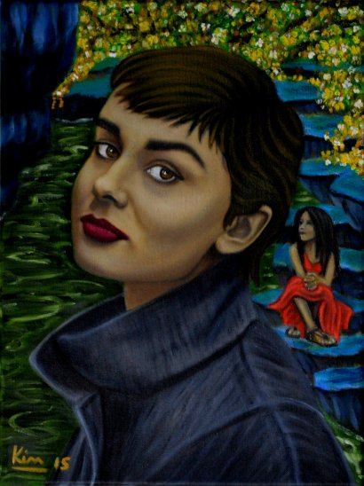Oil Painting > Not Alone > Audrey Hepburn