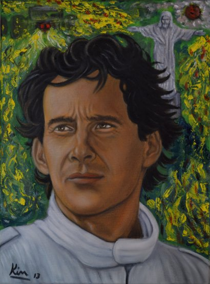 Oil Painting > Race Day > Ayrton Senna