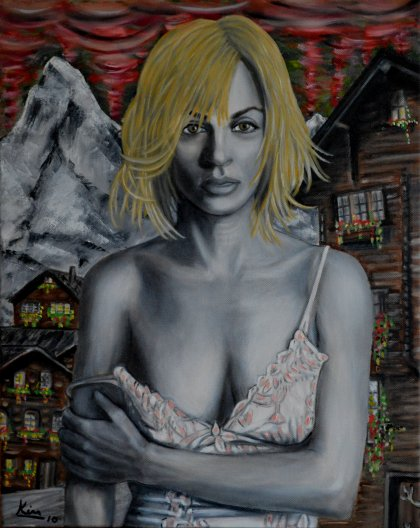 Oil Painting > Redemption ( Uma Thurman )