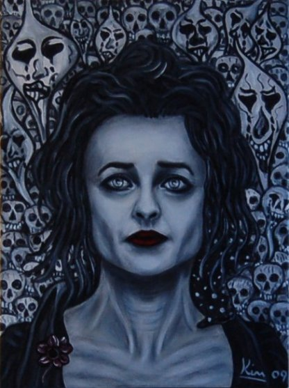 Oil Painting > Remembrance ( Helena Bonham Carter ) - Click Image to Close