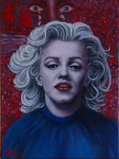 Oil Painting > River Gods ( Marilyn Monroe )