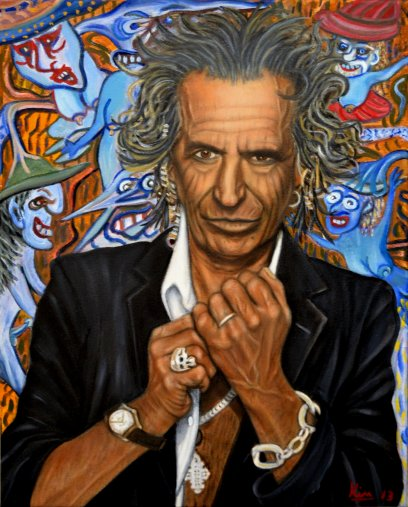 Oil Painting > Rock and Roll > Keith Richards