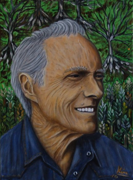 Oil Painting > Secret Garden ( Clint Eastwood )