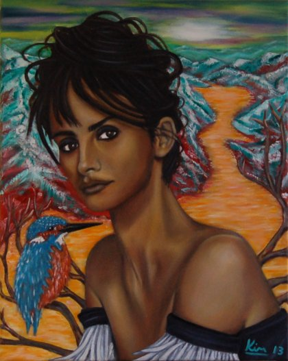 Oil Painting > Silent Space > Penelope Cruz - Click Image to Close