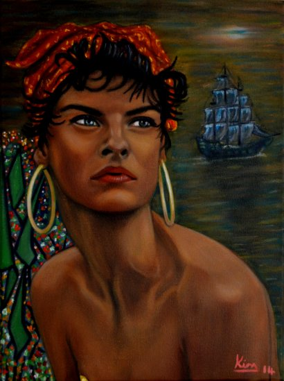 Oil Painting > South Seas > Linda Evangelista