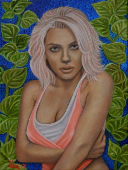 Oil Painting > Strawberry Fields > Scarlett Johansson