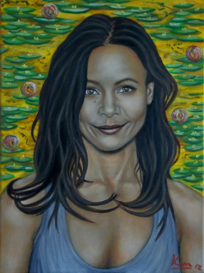Oil Painting > Sundance ( Thandie Newton ) - Click Image to Close