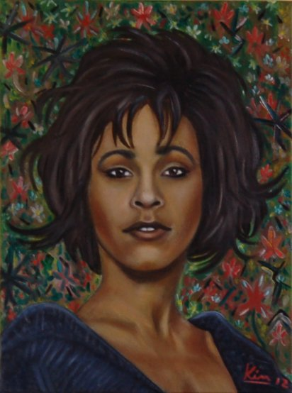 Oil Painting > Tempest ( Whitney Houston )
