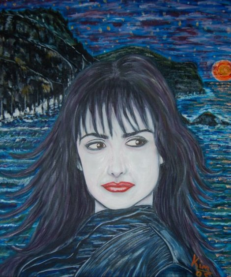 Oil Painting > Temptation ( Penelope Cruz ) - Click Image to Close