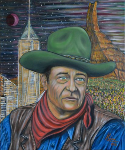 Oil Painting > The American > John Wayne