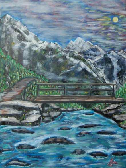 Oil Painting > The Crossing - Click Image to Close