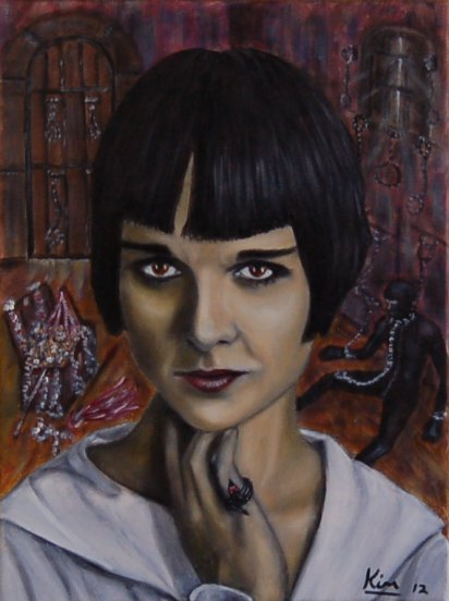 Oil Painting > Tinderbox > Louise Brooks