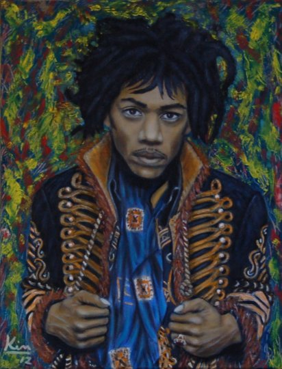 Oil Painting > Virtuoso ( Jimi Hendrix )