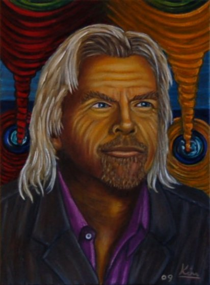 Oil Painting > Visionary ( Richard Branson )