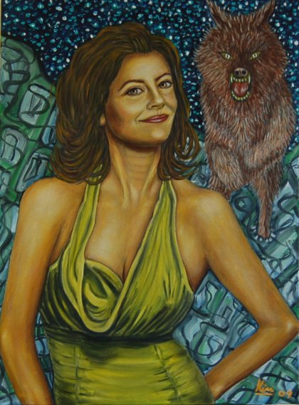 Oil Painting > Whoops a Daisy ( Susan Sarandon )
