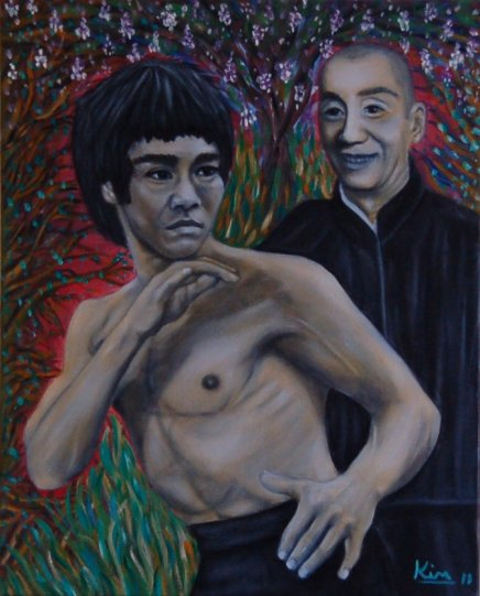 Oil Painting > Wing Chun ( Bruce Lee, Yip Man )